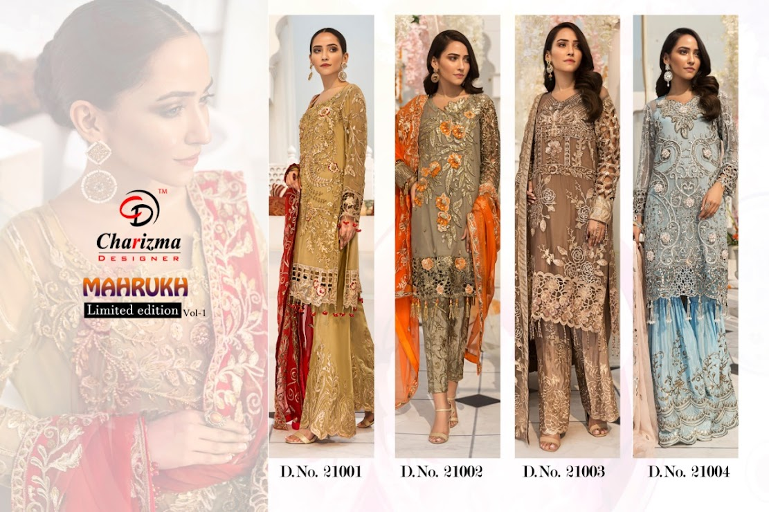 Mahrukh Vol 1 Charizma Designer Pakistani Dress Material Man