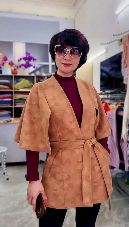 Áo khoác Cape nữ mix quần legging V748 thời trang thủy ở thái bình