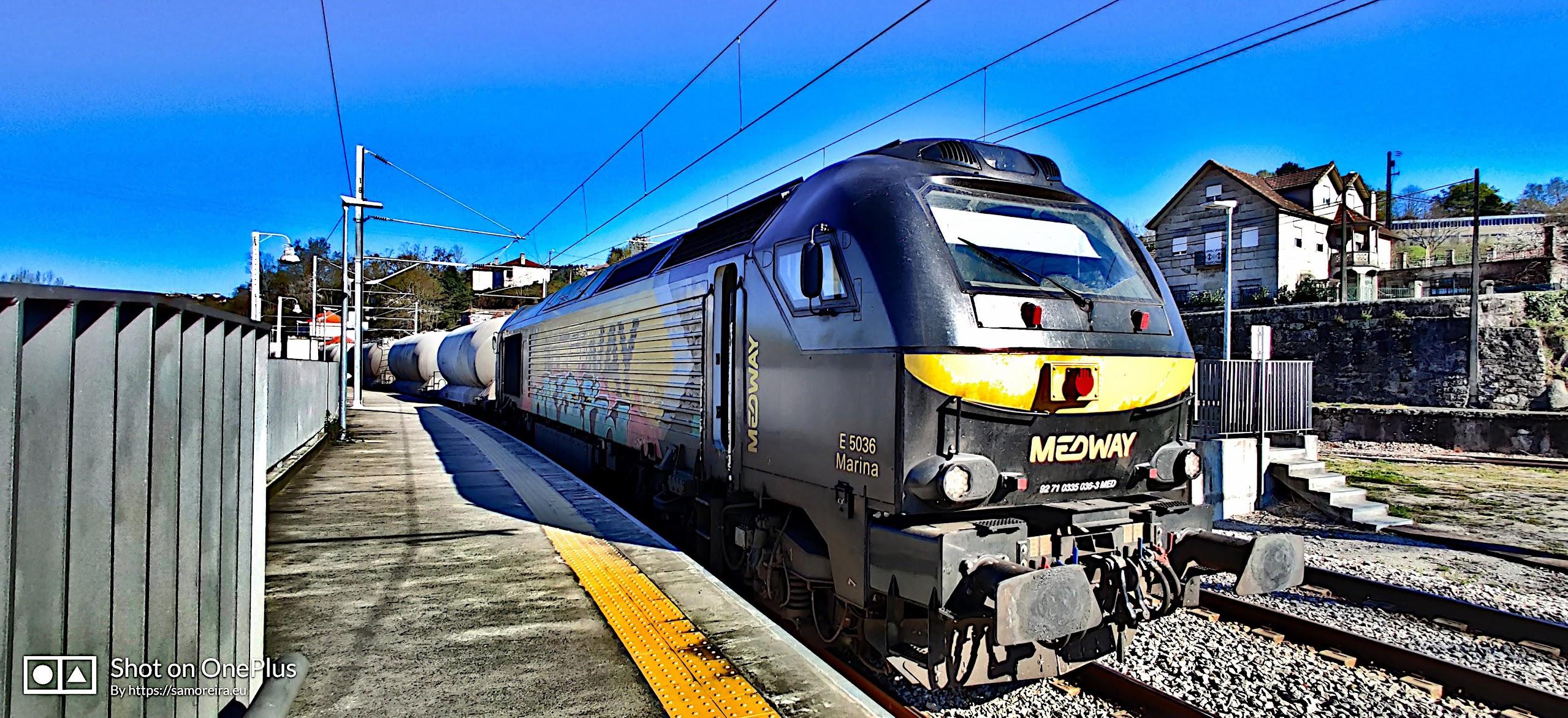 Vossloh Euro 4000 na Estação Ferroviária de Livração