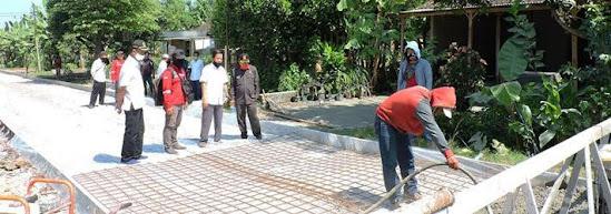 Proyek jalan padas pucung kabupaten Ngawi
