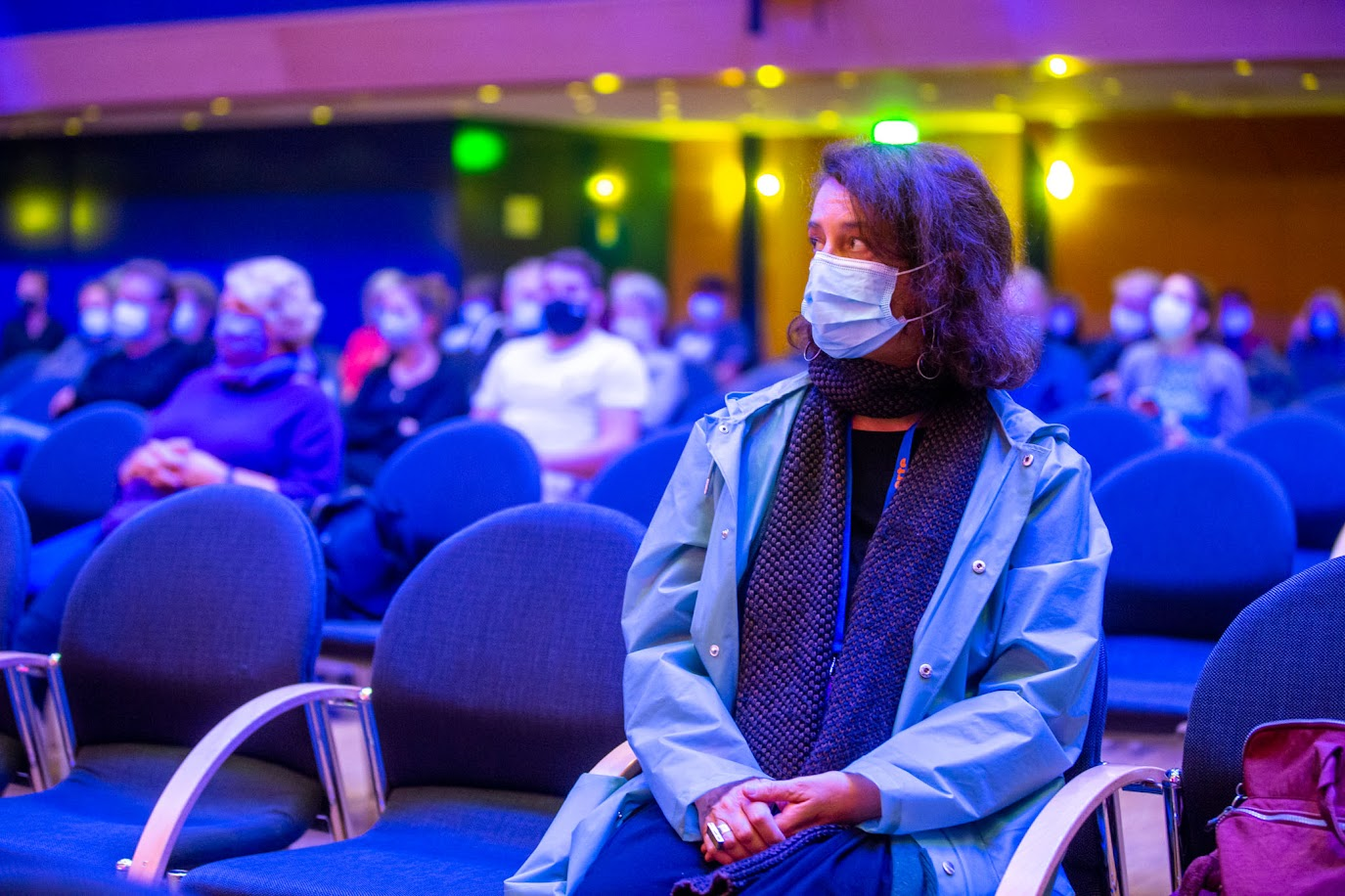 "Festival-Impression aus Hof: Angeliki Antoniuo im Screening ihres Films ""Green Sea"" im Rahmen des Festivals (Frank Wunderatsch)"