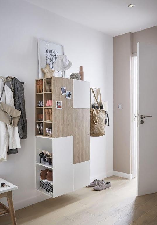 thiết kế tủ giày dép đa năng