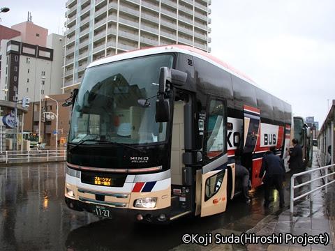 弘南バス「津輕号」 1127 青森駅前にて