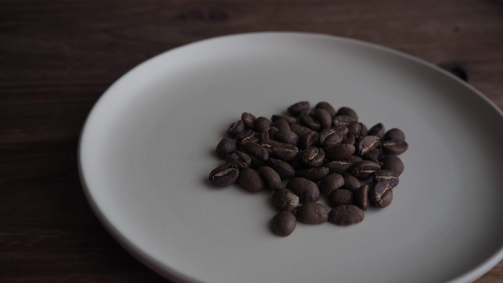 浅煎りのコーヒー