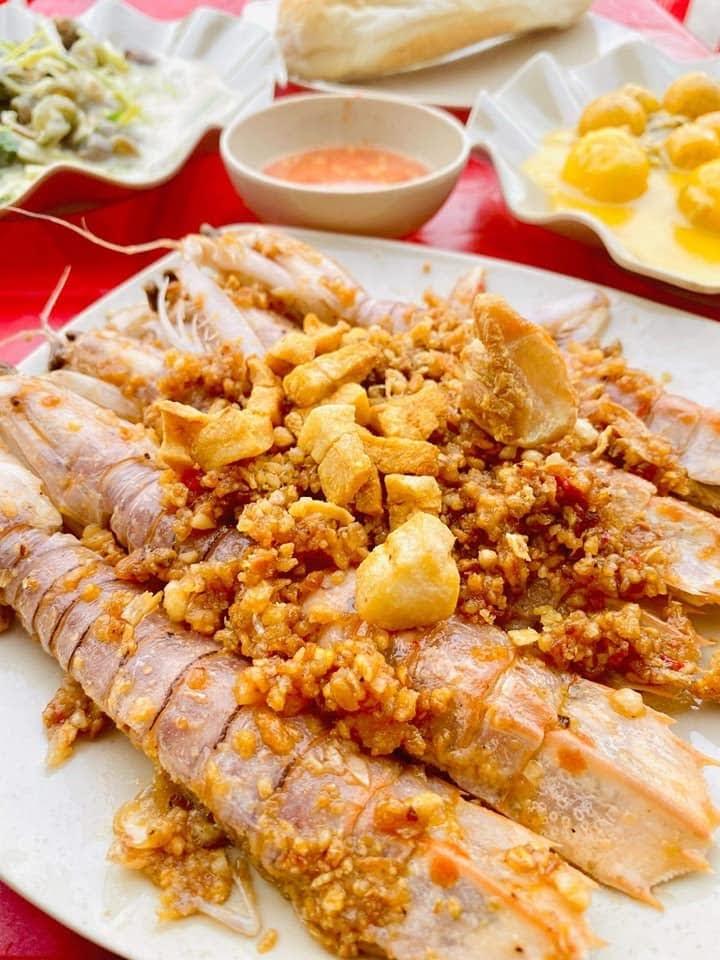 Tôm tít cháy tỏi quán Sài Gòn ốc, nhum ở Dương Quảng Hàm, Gò Vấp