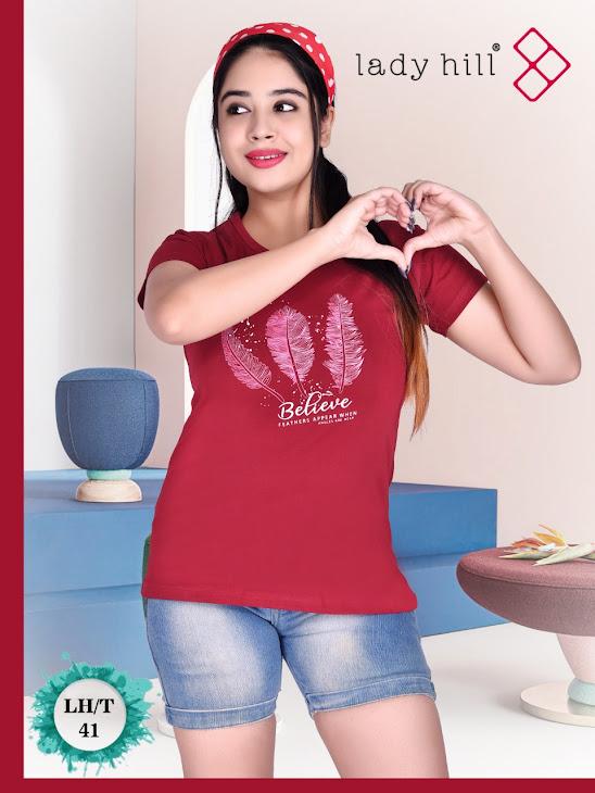 Design No 41 Lady Hill Girls Tshirt Manufacturer Wholesaler