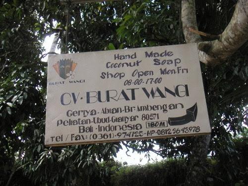 ナチュラルソープの良さを教えてくれた店。【ウブド ・Burat Wangi(ブラットワンギ)】