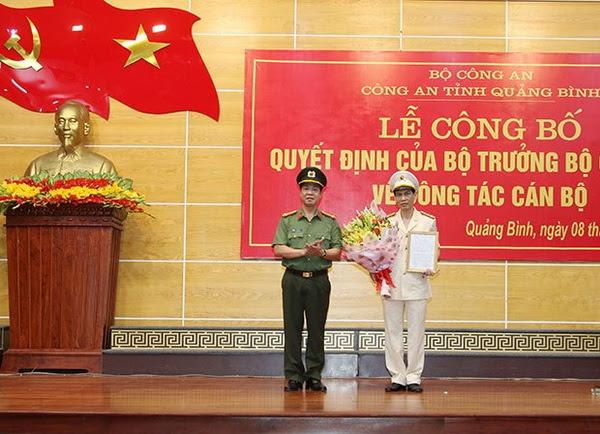 Đại tá Phan Đăng Tĩnh giữ chức vụ Phó Giám đốc Công an Quảng Bình