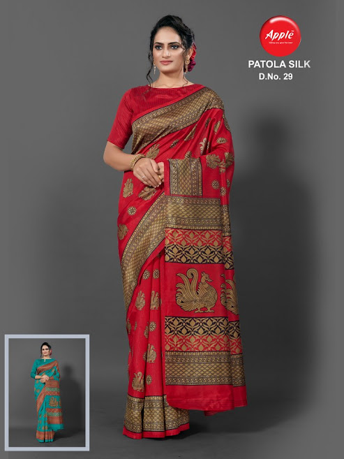 Apple Patola Silk Design No 29 Colour Chart Sarees Catalog Lowest Price