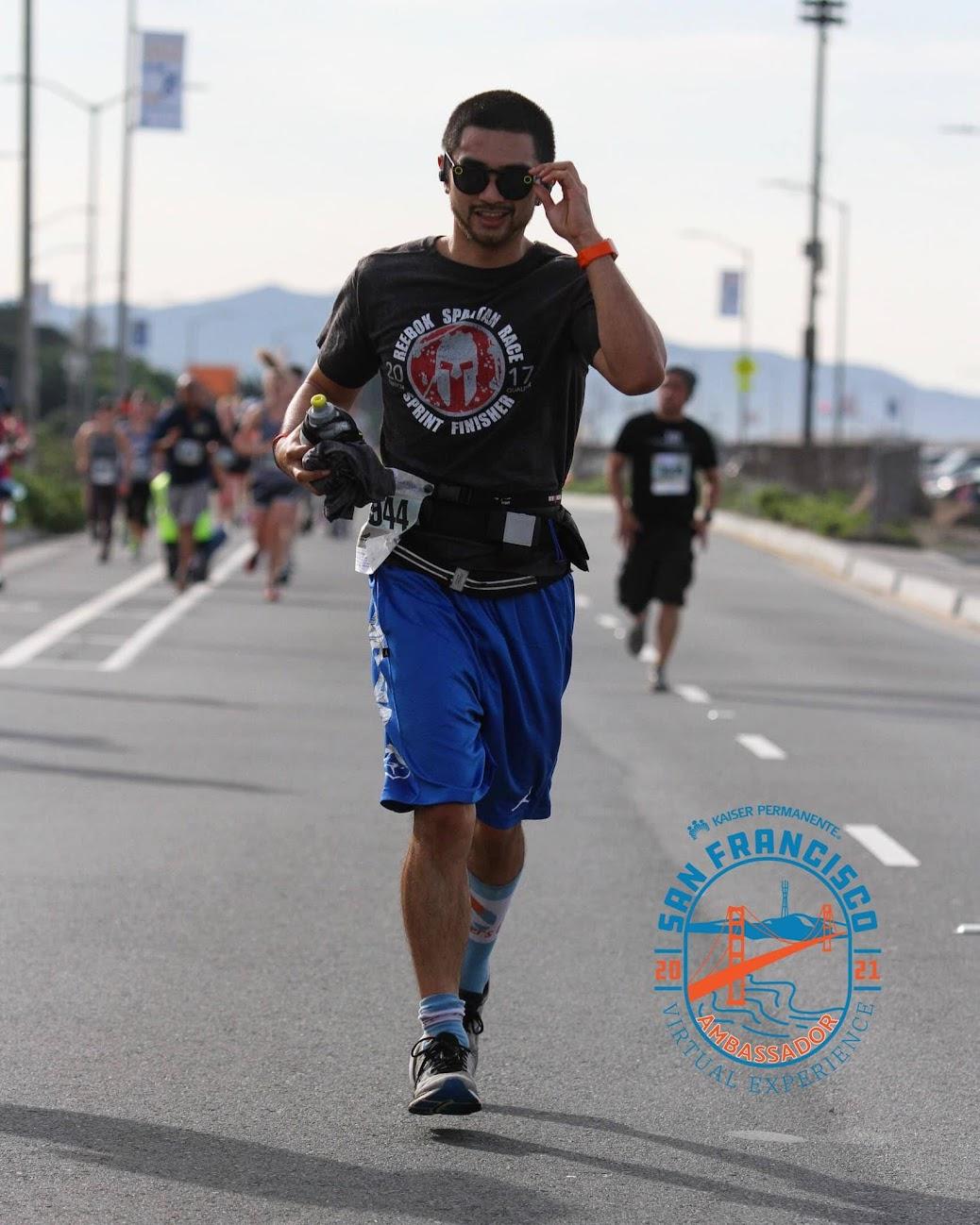 Coach Ian Cruz, Kaiser Permanente San Francisco Half Marathon