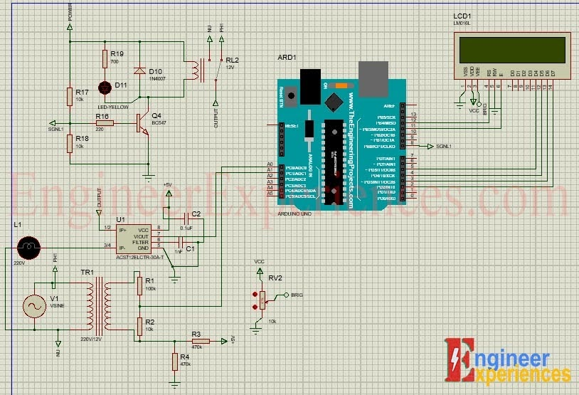 Complete simulation model of Arduino based smart energy meter.
