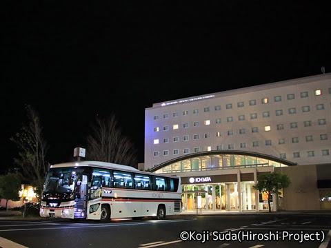 一畑バス「みこと号」 ・836 JR出雲市駅到着