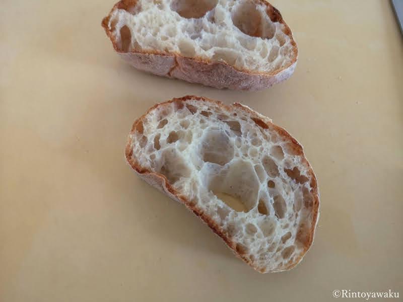 パン屋 二兎:チャバタ断面