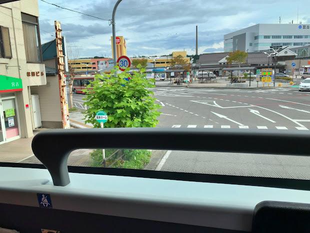 ワイドビューシートから見た宮古駅前降車ホーム
