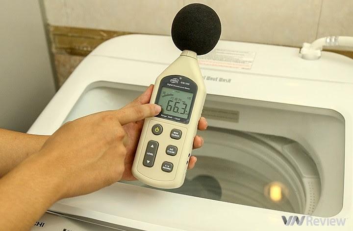 độ ồn của máy giặt Hitachi SF-S95XC  khi vắt