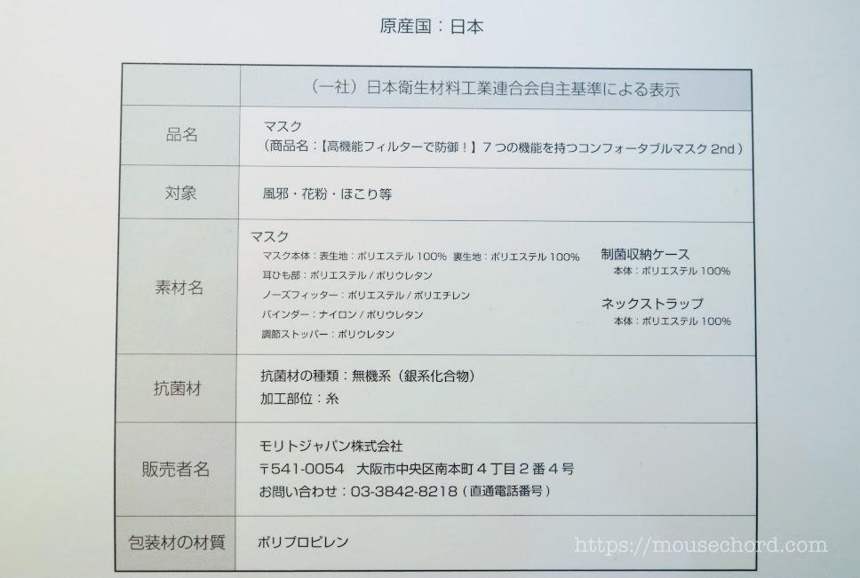 コンフォータブルマスク2nd購入Review