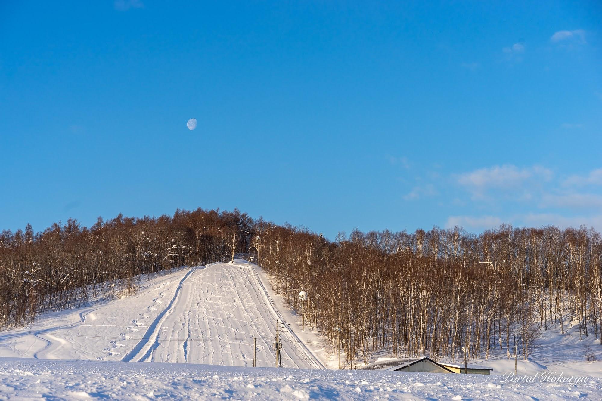 スキー場のシュプール模様