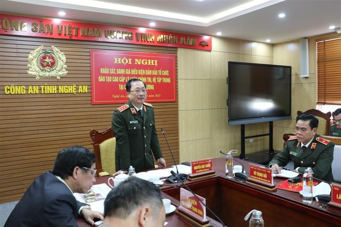 Thượng tướng Nguyễn Văn Thành, Thứ trưởng Bộ Công an chủ trì hội nghị