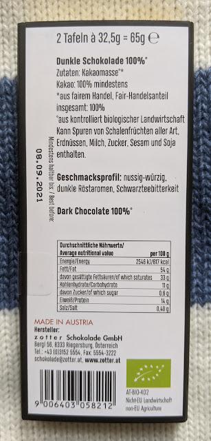 100% zotter maya cocoa bar