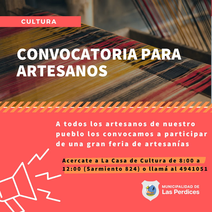 LAS PERDICES: CONVOCATORIA PARA ARTESANOS