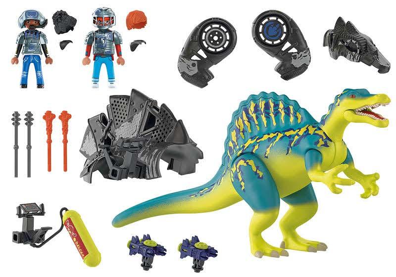 Contenido real de Playmobil® 70625  Spinosaurus: Doble poder de defensa