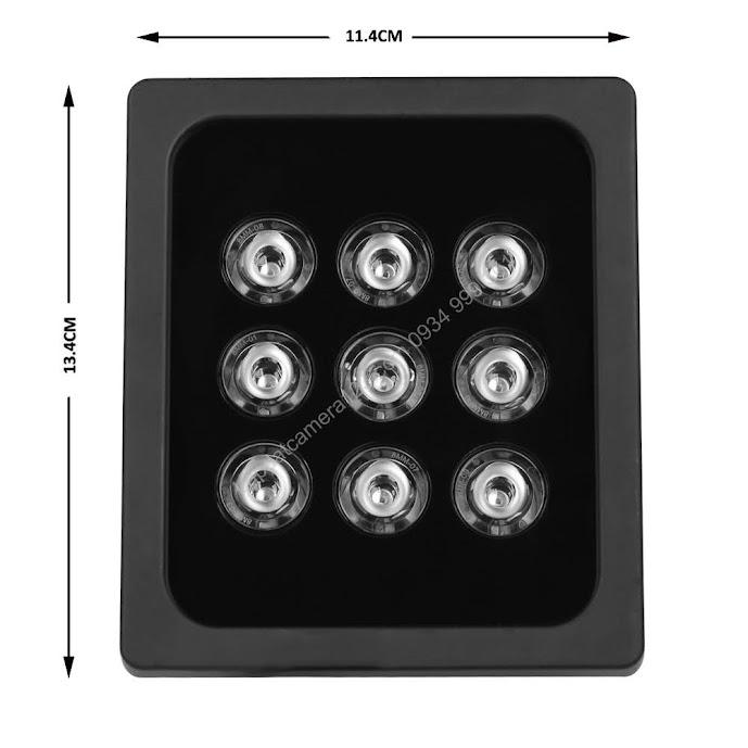 Đèn hồng ngoại hỗ trợ camera nhìn đêm 9 led array