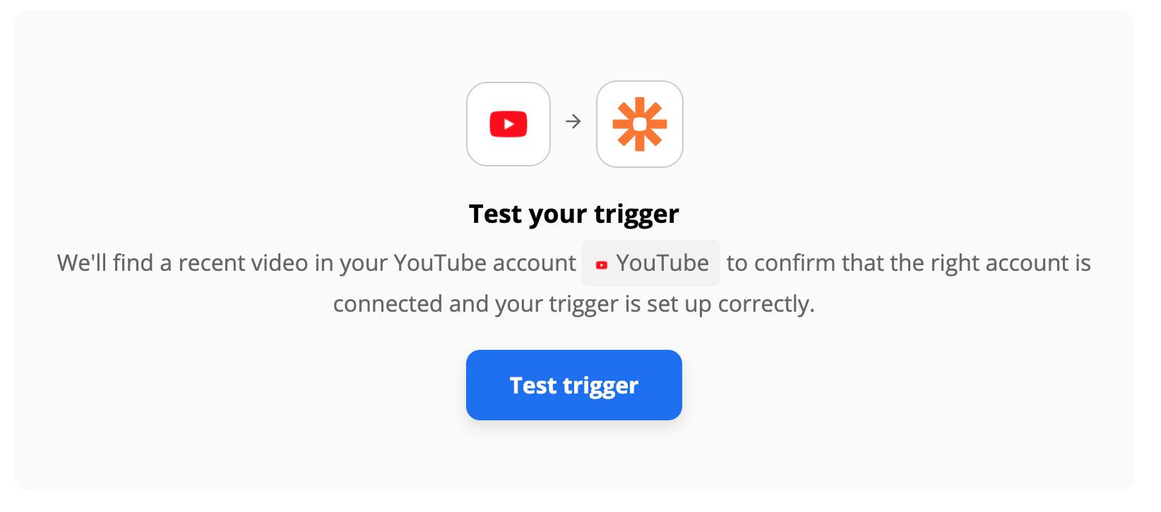 Test your Zapier trigger