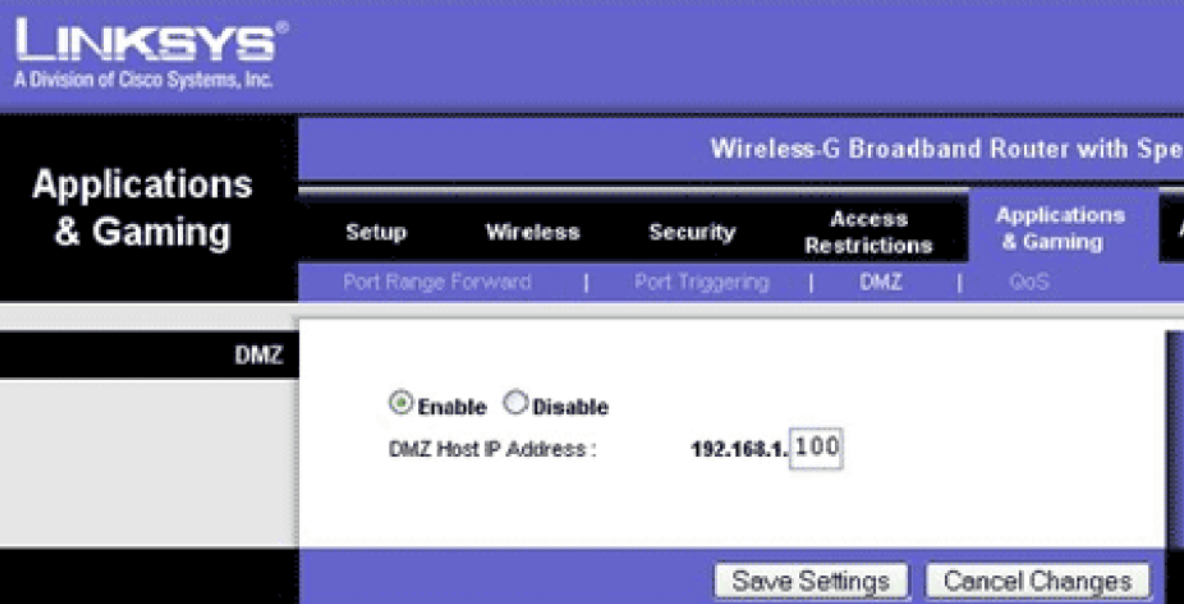 Add Console static IP with DMZ