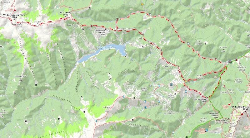 Fig. 2 Trasee reabilitate cu contribuția esențială a voluntarilor Clubului Alpin Floarea de Colț
