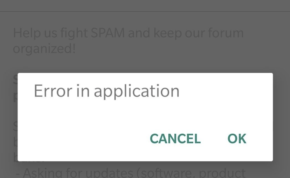 "Solved: How Do I fix Android Phone ""Error in application""?"