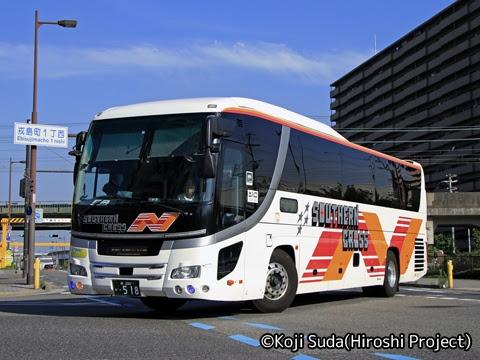 南海バス「サザンクロス」長岡線 ・518 堺市内にて