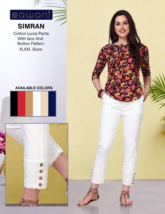 Awani Simran Women Pants Catalog Lowest Price