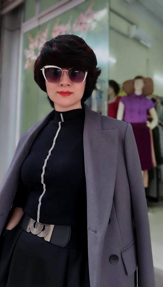 Áo khoác măng tô nữ vải dạ màu ghi xám V750 thời trang thủy sài gòn 2