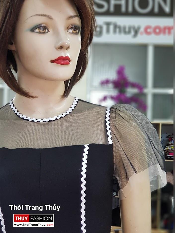Váy xòe chữ A mặc dạo phố dự tiệc V709 tại thời trang thủy