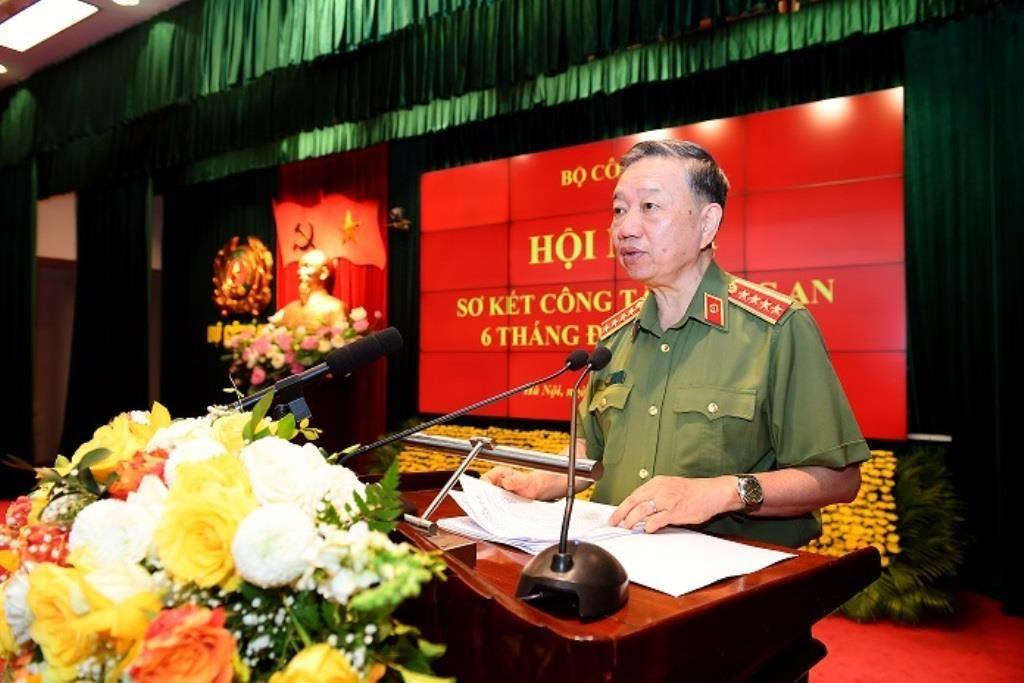 Bộ trưởng Tô Lâm phát biểu khai mạc hội nghị.