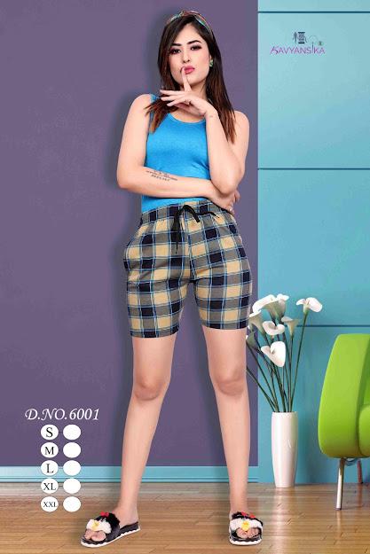Printee Vol 6001 Kavyansika Ladies Shorts Manufacturer Wholesaler