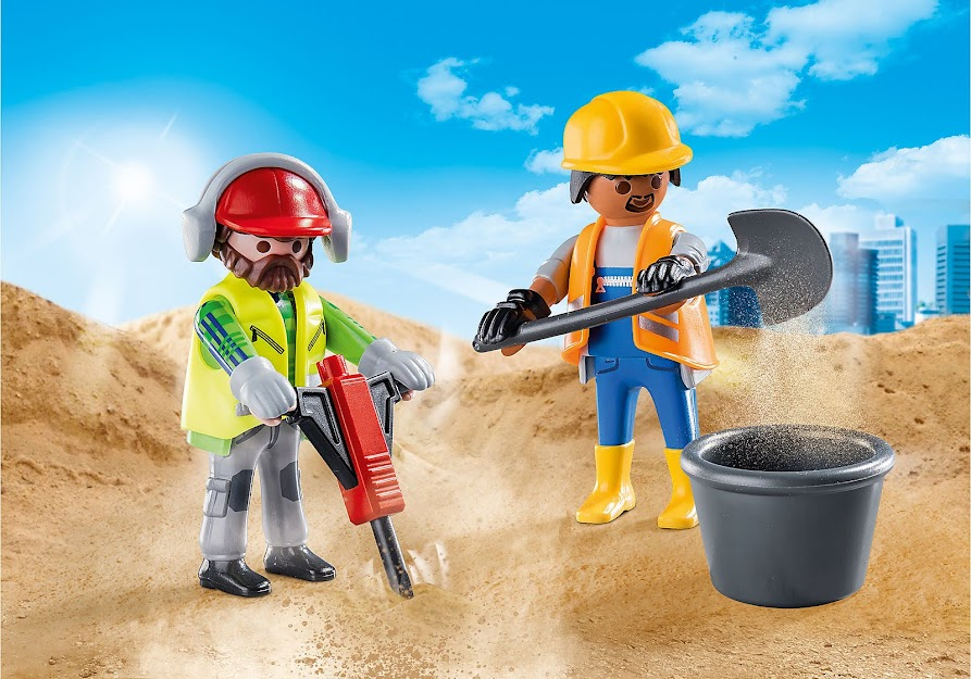 Contenido real de Playmobil® 70272 Duo Pack Obreros