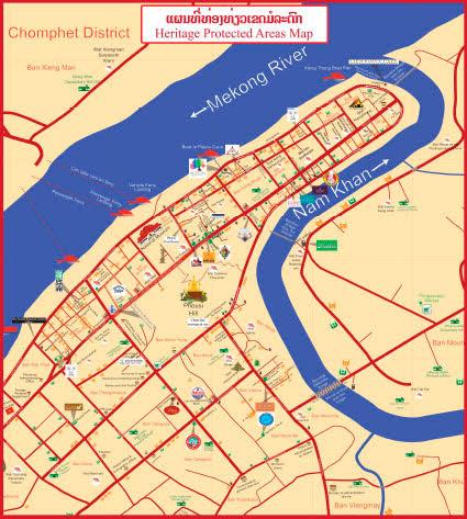 Mapa de Luang Prabang