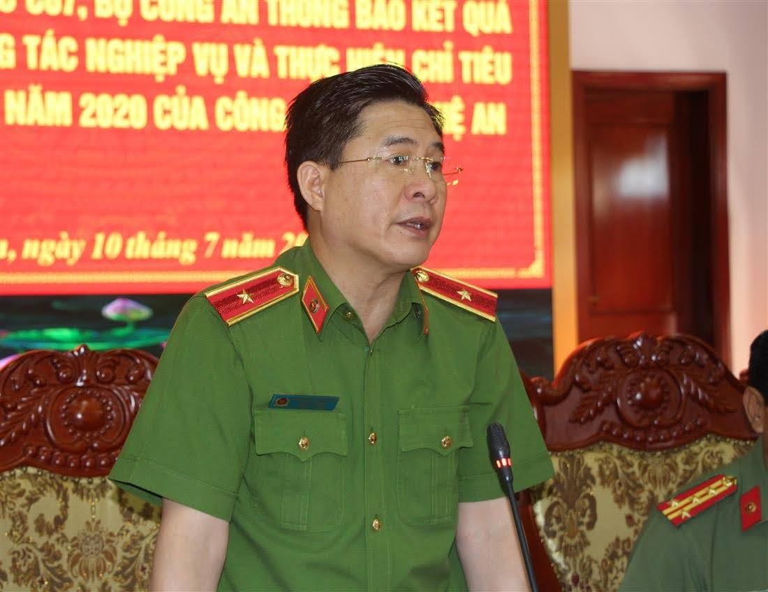 Thiếu tướng Nguyễn Tuấn Anh, Cục trưởng Cục Cảnh sát                     PCCC&CNCH – Bộ Công an phát biểu tại buổi làm việc.