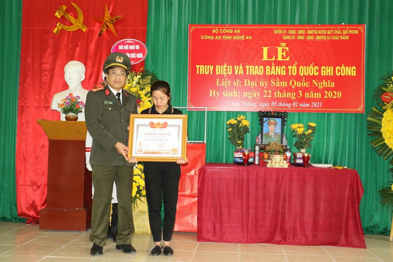 Ngày 22-1-2021 Thủ tướng ký quyết định cấp bằng Tổ Quốc ghi công cho Liệt sỹ Sầm Quốc Nghĩa