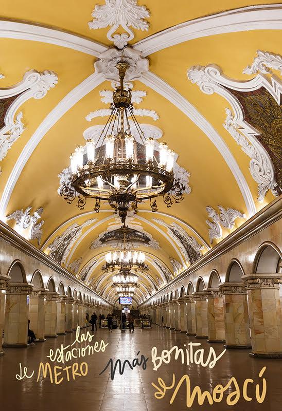 estaciones de metro más bonitas de Moscú