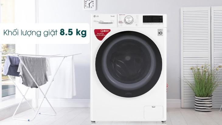 Máy giặt LG có khối lượng giặt đa dạng