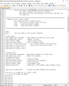 APDL-команды для автоматизации расчёта