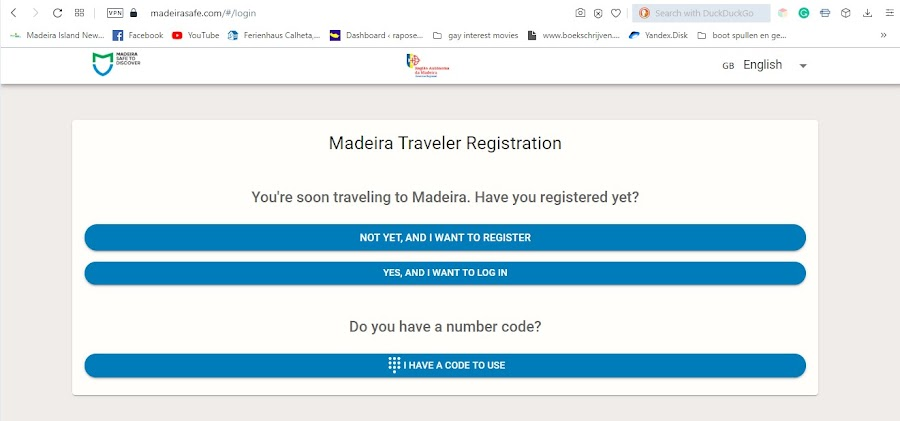 Register before you do anything else.  It makes for a smoothe corona test procedure