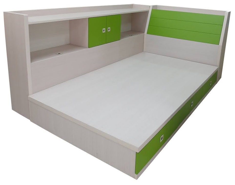 848-01 綠巨人3.5尺兒童床組(可選色)