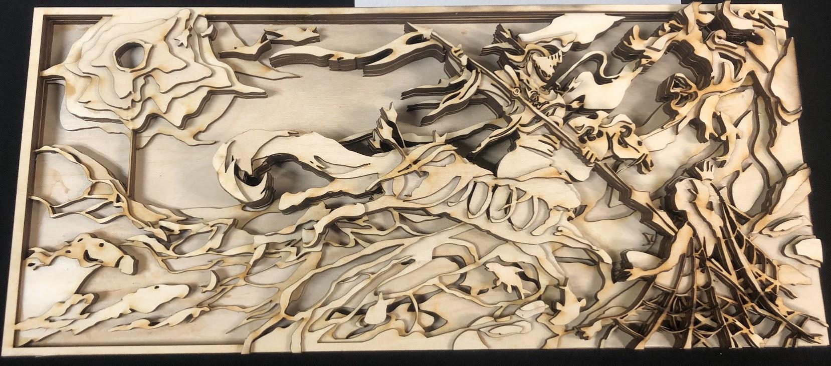 Layered Laser Cut Wood Art