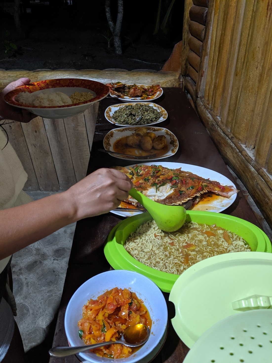 Your typical homestay food in Raja Ampat