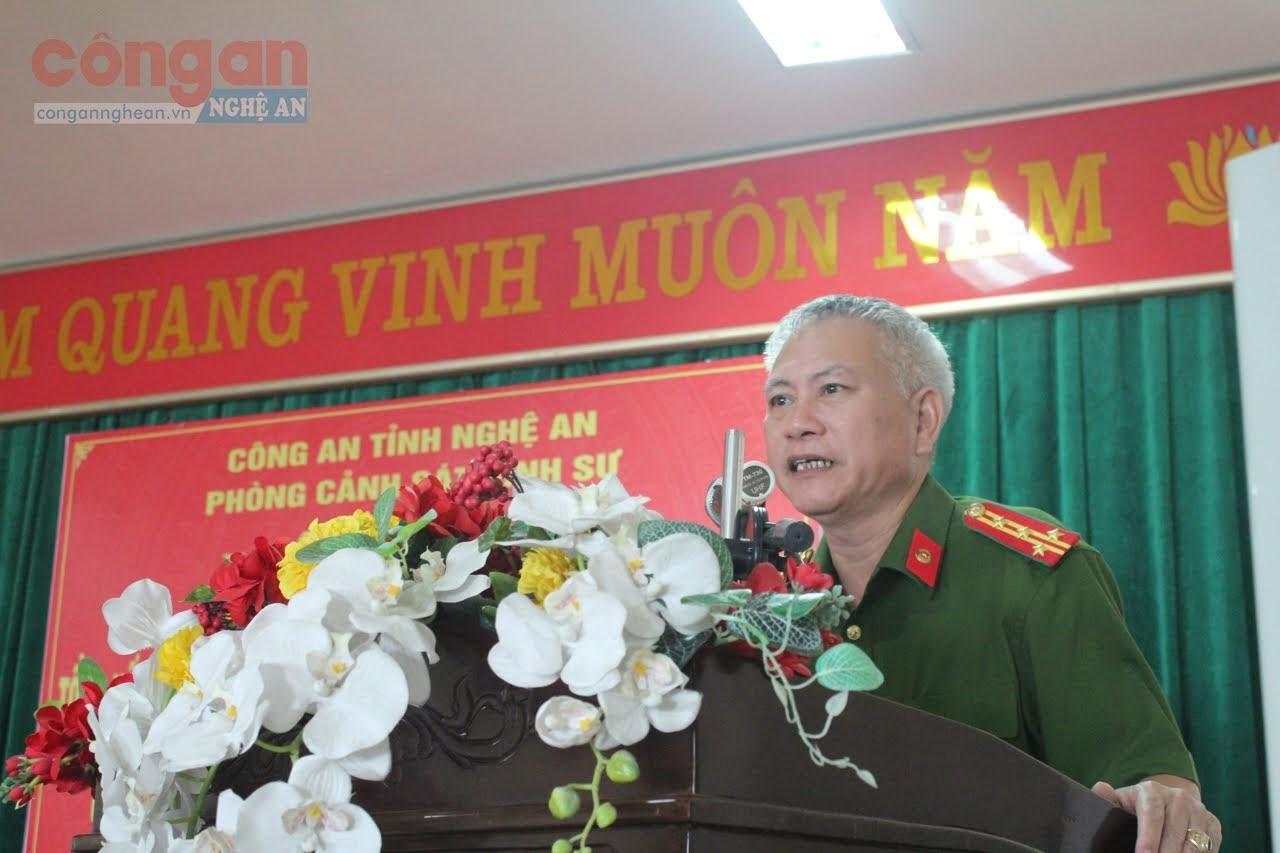 Đại tá Phạm Hoài Nam, Trưởng phòng Cảnh sát hình sự phát biểu khai mạc tại hội nghị