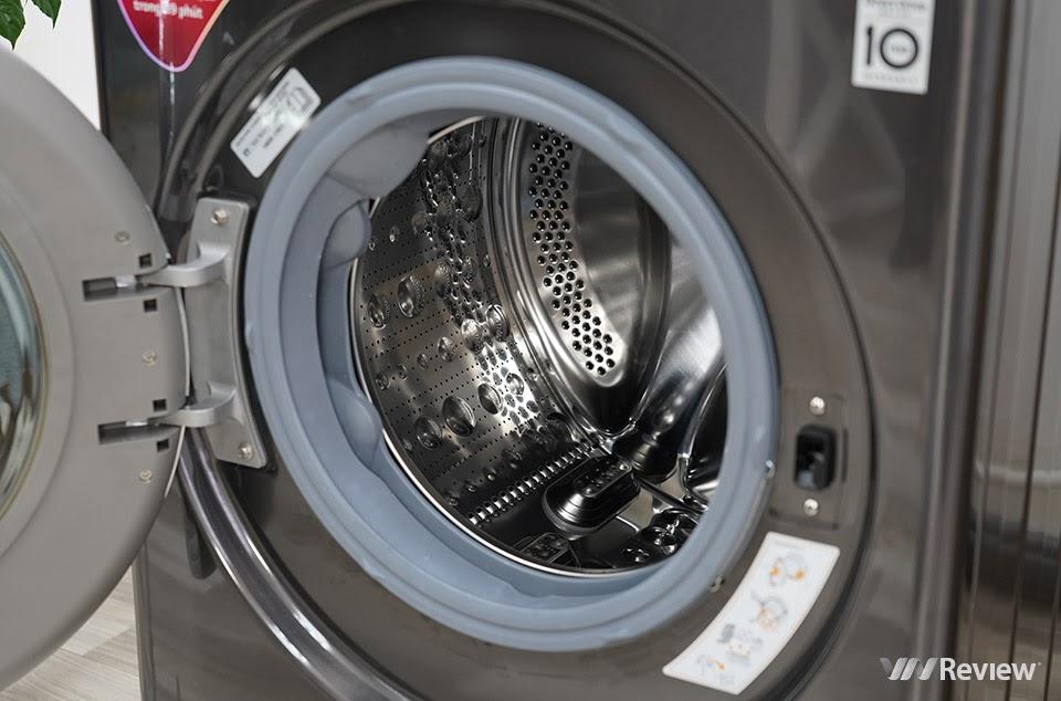 lồng giặt và thanh nâng bằng thép không gỉ