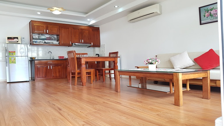Cheap 1 – bedroom apartment with balcony in Truc Bach area, Ba Dinh district for rent